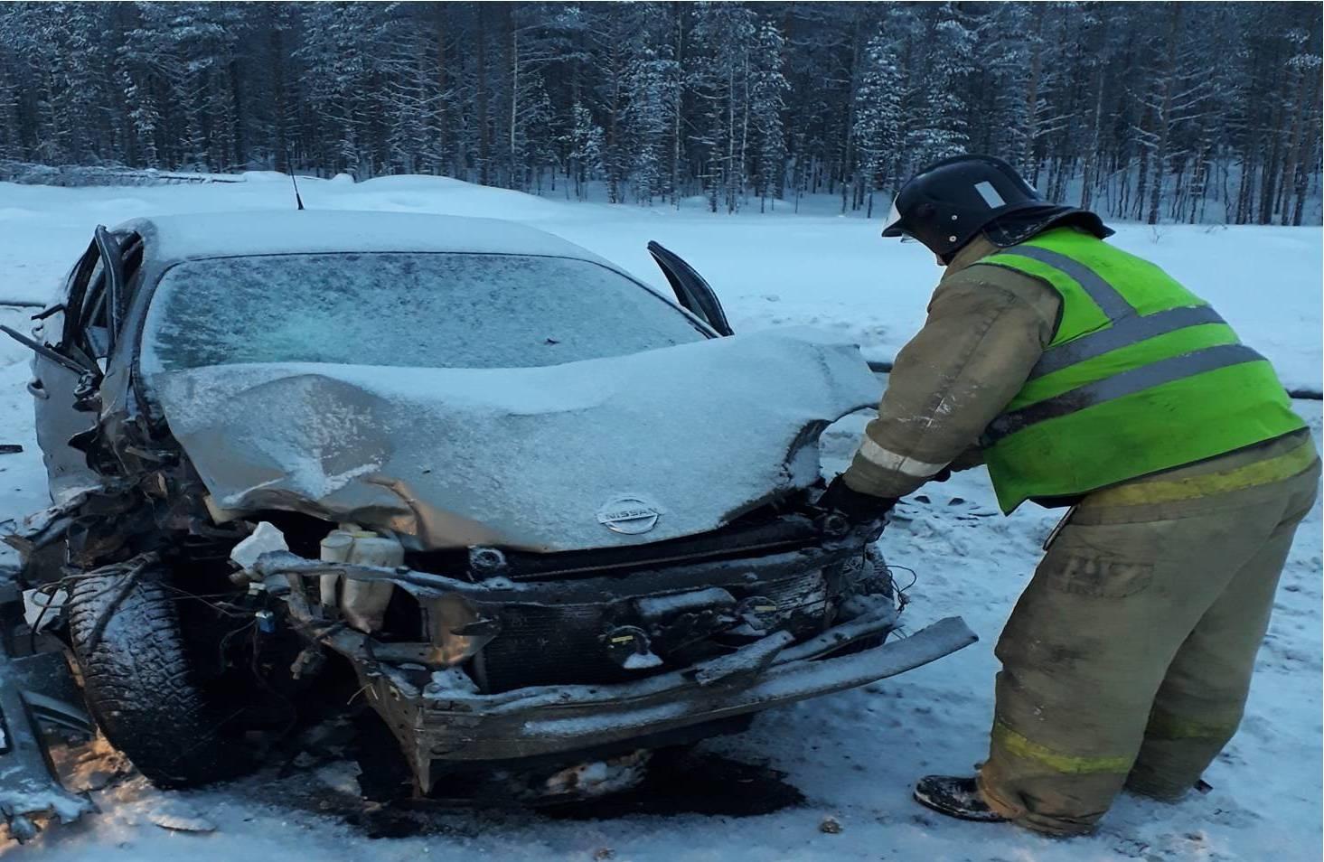 Пожарно-спасательное подразделение привлекалось для ликвидации ДТП в г. Петрозаводске.