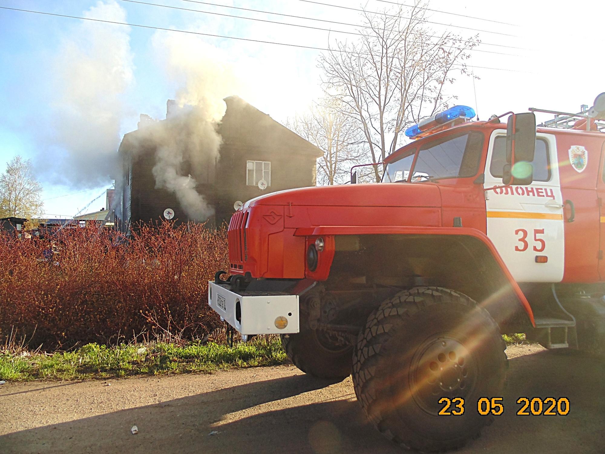 Пожарно-спасательные подразделения привлекались для ликвидации пожара в Беломорском районе.