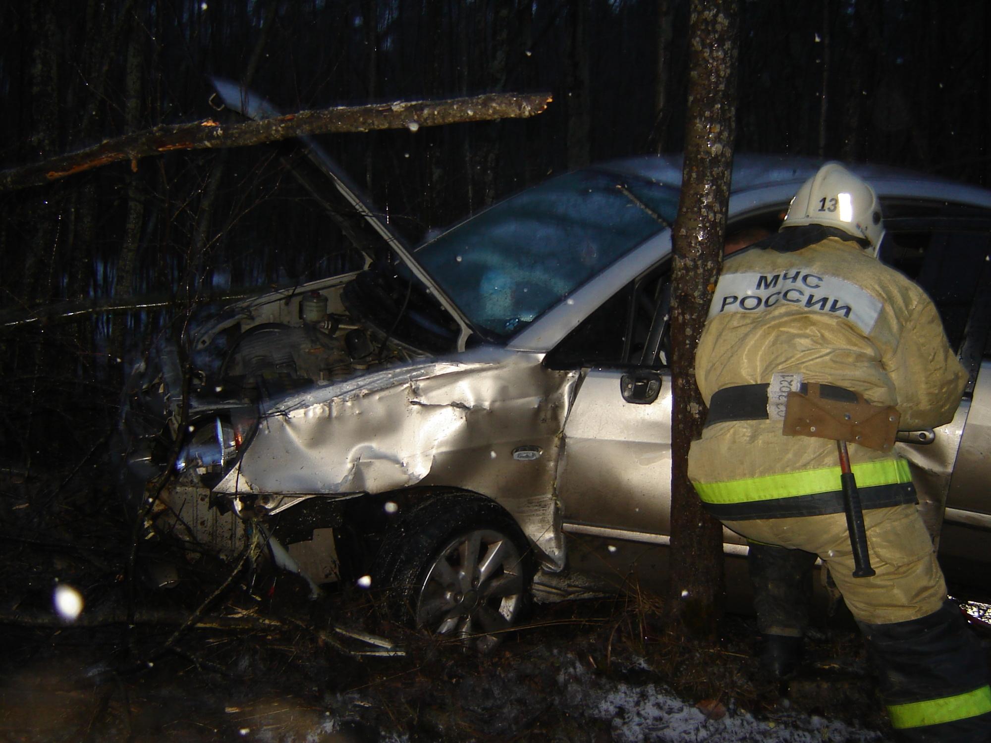 Пожарно-спасательное подразделение привлекалось для ликвидации ДТП в Кондопожском районе.