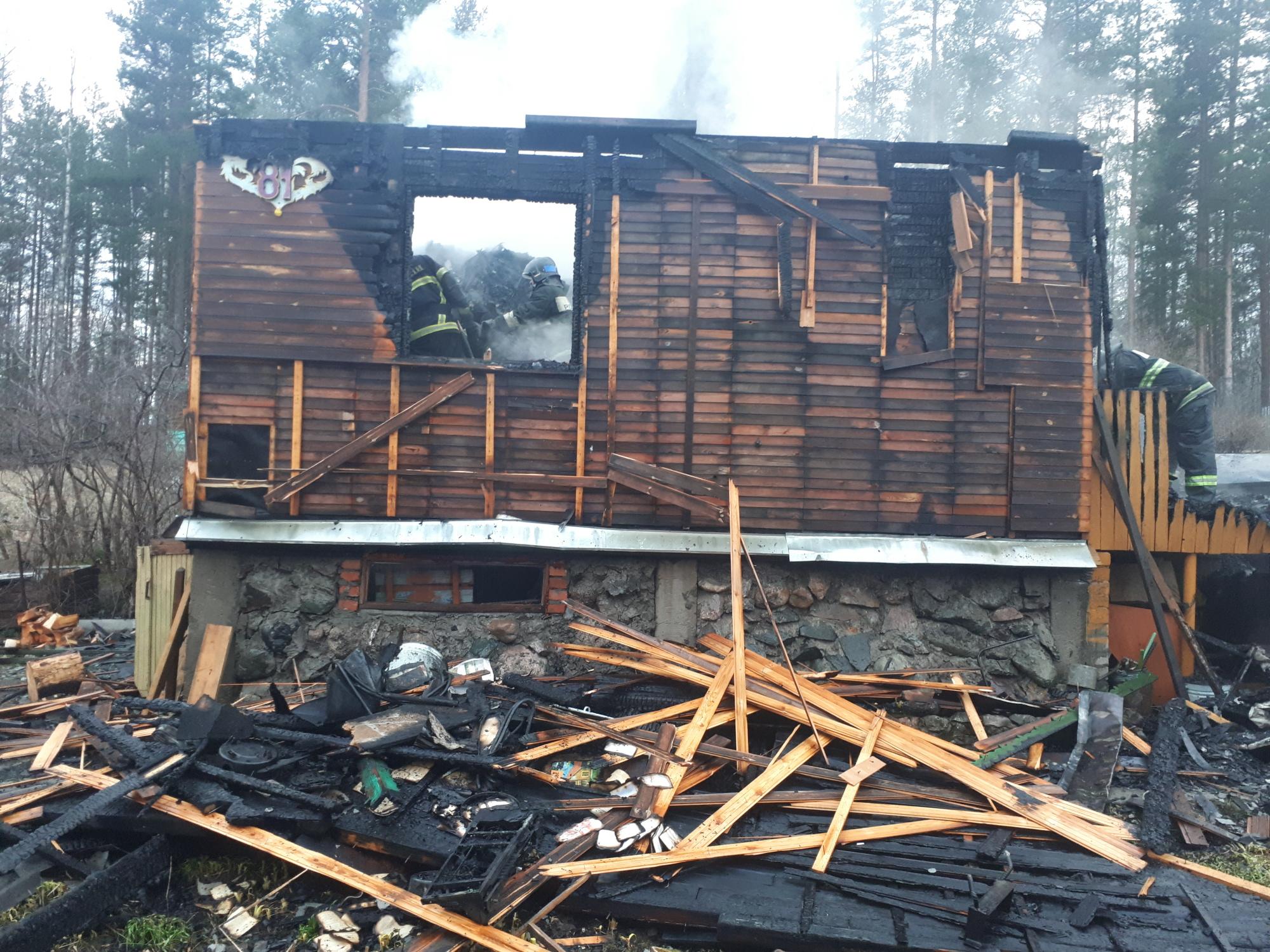 Пожарно-спасательные подразделения ликвидировали пожар в Кондопожском районе.