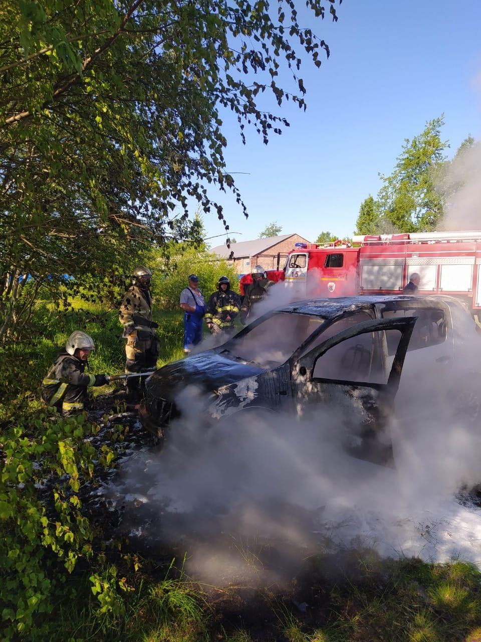 Пожарно-спасательные подразделения ликвидировали пожар в Сортавальском районе.
