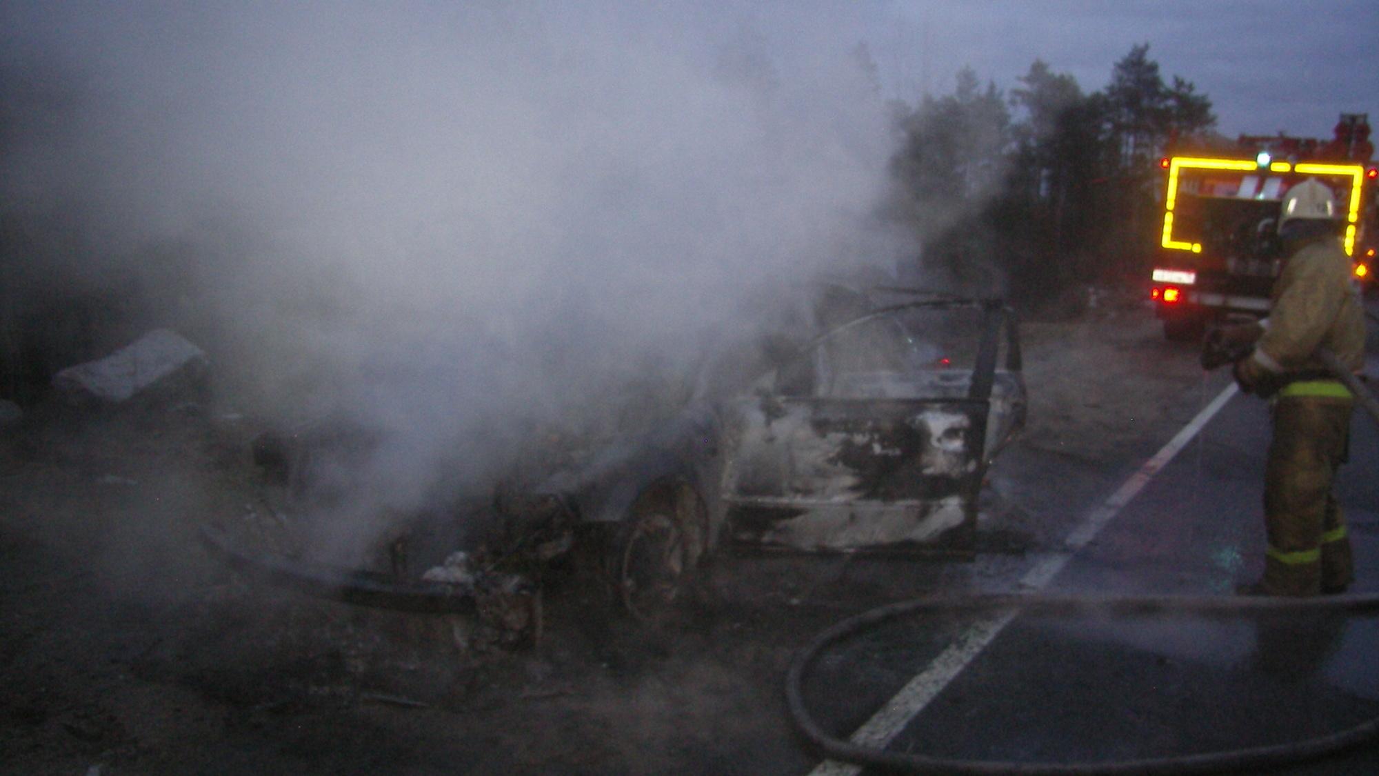 Пожарно-спасательное подразделение ликвидировало пожар в Муезерском районе.